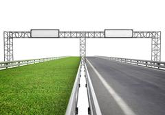 Highway for ecological and normal transport concept illustration Stock Illustration