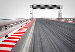 Race circuit finish line perspective illustration Stock Illustration