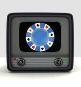 Broadcasting casino games television advertisement illustration Stock Illustration