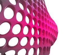Stock Illustration of isolated bended violet mesh with bulge wallpaper illustration