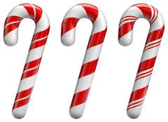 christmas candy cane - stock illustration