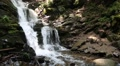 Beautiful waterfall in Carpathian Mountains, Ukraine Footage
