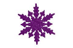 Purple star shape cartoon christmas tree decoration Stock Illustration