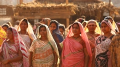 Village poor people in India Stock Footage