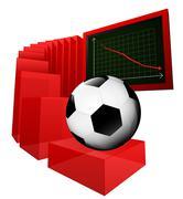 Stock Illustration of negative business results in sport industry vector illustration