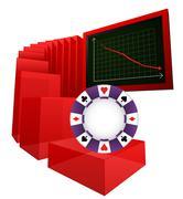 Negative business results of betting market vector illustration Stock Illustration