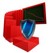 Negative results of internet security vector illustration Stock Illustration