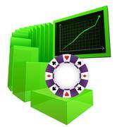 Positive business results of betting market vector illustration Stock Illustration