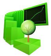 positive results of environmental business vector illustration - stock illustration