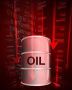Negative value decrease of oil goods vector ilustration Stock Illustration