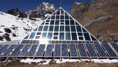 Ev-K2-CNR, aka Italian Pyramid, Everest Region, Nepal Stock Footage