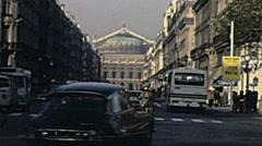 Paris 1975: traffic near the Opera Stock Footage