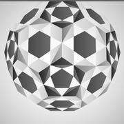 Cubic dimensional black and white layout vector illustration Stock Illustration