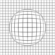 sphere in grid line drawing vector illustration - stock illustration