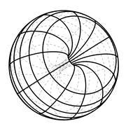 Black line scheme sphere sketch vector illustration Stock Illustration