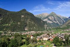 Aosta valley - Morgex - stock photo