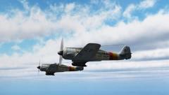 WW2 Focke-Wulf FW 190 Fighter Planes - close up - 4k Stock Footage