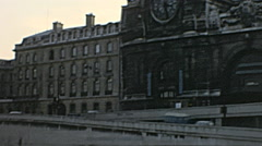 Paris 1975: Orsay Museum (at that time it wasn't already a museum) Stock Footage