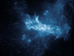 Realms of Fractal Nebulae - stock illustration