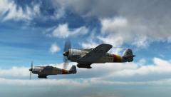 WW2 Focke-Wulf FW 190 Airplane in fly - close up - 4k Stock Footage