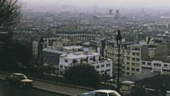Paris 1975: cityscape from Montmartre Stock Footage