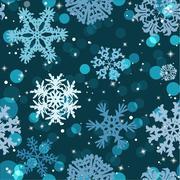 snowflakes winter seamless texture, endless pattern - stock illustration