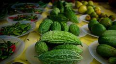 Organic bitter melon - stock photo