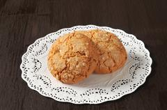 cookies on a doily - stock photo