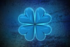 Magic happiness on blue shiny pixel grid screen modern technology illustration Stock Illustration