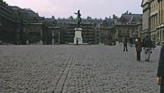 Paris 1975: Versailes entrance Stock Footage