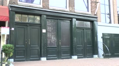 Front entrance to Anne Frank House, Prinsengracht, Amsterdam, Netherlands. Stock Footage