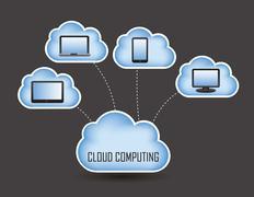 Cloud computing concept design. vector illustration Stock Illustration