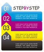 Stock Illustration of template of numbers, step by step. vector illustration