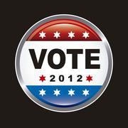 united states election vote over black background. vector - stock illustration