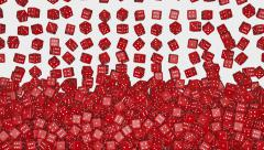 Reds dice fall Stock Footage