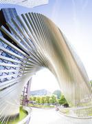 Germany, Hesse, Frankfurt, modern office towers Stock Photos
