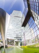 Stock Photo of Germany, Hesse, Frankfurt, view to City-Haus, headquarter of DZ Bank