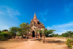 Seinnyet ama temple at bagan, myanmar (burma) Stock Photos