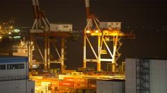4k tokyo japan shipping harbour port industrial trasnportation cargo Stock Footage