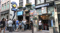 The colourful Bulldog coffeeshop in Amsterdam, Netherlands. Stock Footage