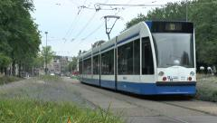 No 10 tram in Amsterdam, Netherlands. Stock Footage