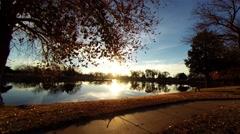 Sunrise at the lake 03 Stock Footage