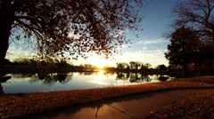 Sunrise at the lake 04 Stock Footage