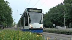 No 7 tram in Amsterdam, Netherlands. Stock Footage