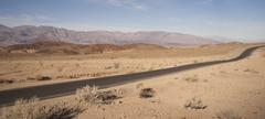 Badwater road death valley panamint mountain range national park Stock Photos