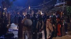 Village poor people Night Life in Disert Rajasthan India Stock Footage