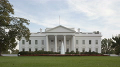 4K Time lapse close up of The White House Stock Footage