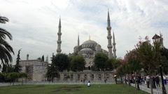 Istanbul Blue Mosque park entrance 4K 024 Stock Footage