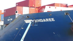 Container Ship Moored at Berth Stock Footage