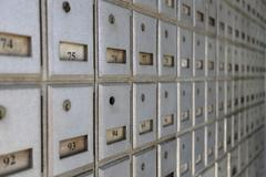 PO boxes on Cayman Islands Stock Photos